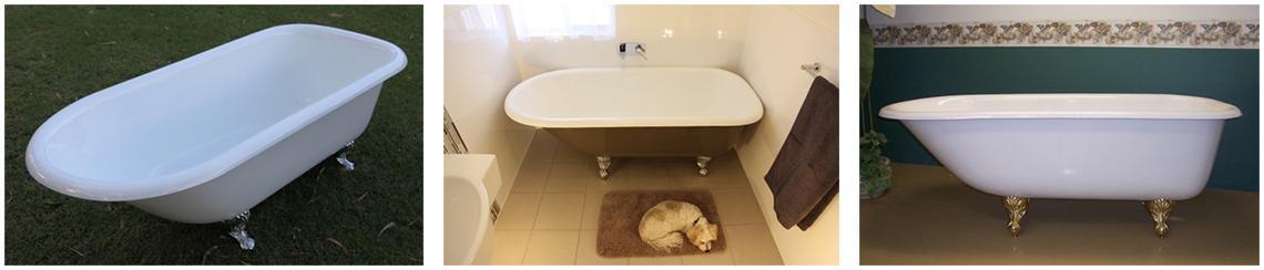 Enjoy the difference of a Lofty Cast Iron Claw Foot Bathtub by Mend A Bath Australia - Perth